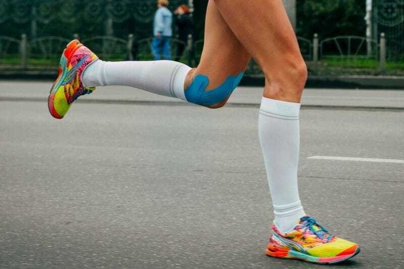 Compression stockings for veins while jogging