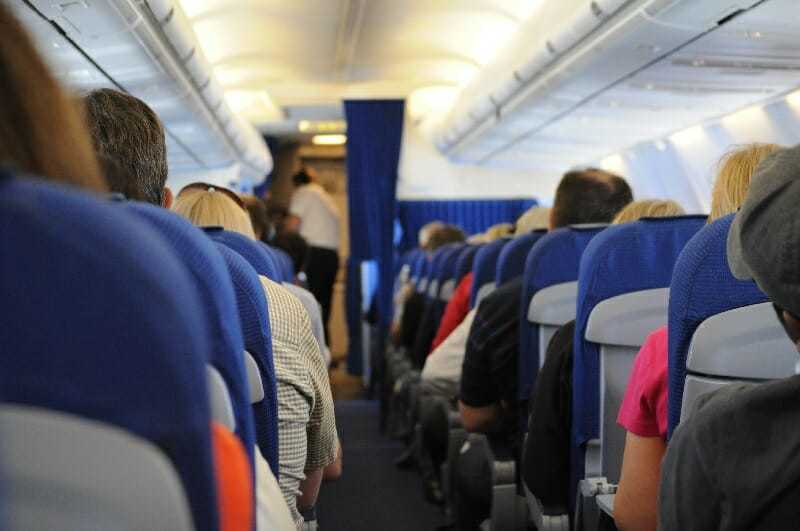 Hannah morgan airplane aisle