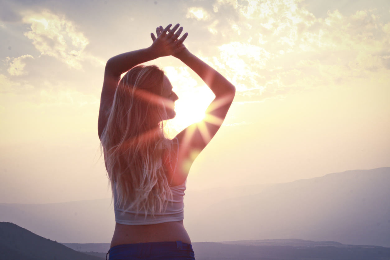 outdoors beautiful sunset yoga
